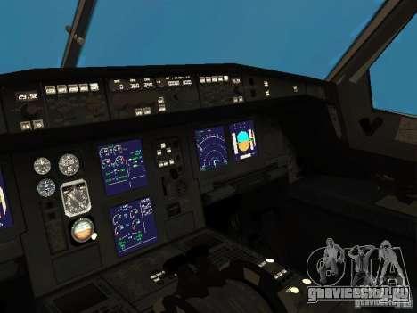 Airbus A340-300 Qantas Airlines для GTA San Andreas вид изнутри