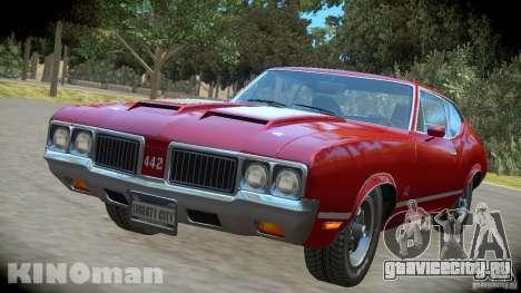 Oldsmobile 442 для GTA 4 вид сзади слева