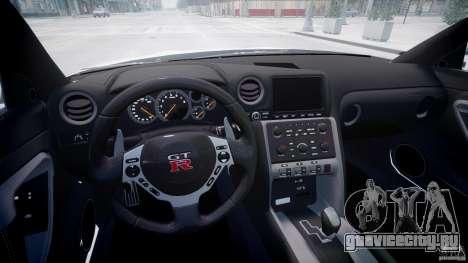 Nissan GTR R35 SpecV v1.0 для GTA 4 вид изнутри