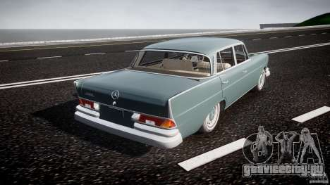 Mercedes-Benz W111 v1.0 для GTA 4 вид сверху