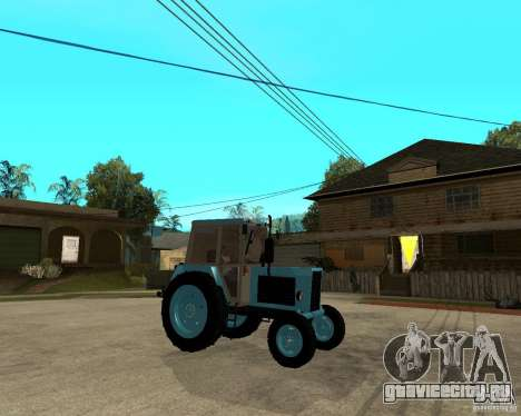 Трактор Беларусь 80.1 и прицеп для GTA San Andreas вид справа
