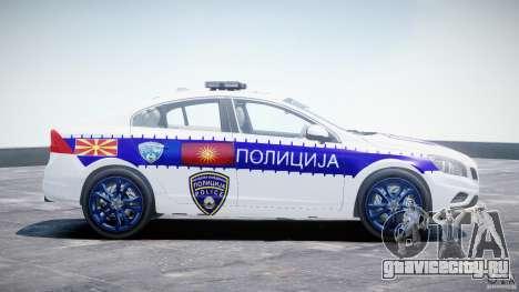 Volvo S60 Macedonian Police [ELS] для GTA 4 вид изнутри