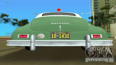 Packard Standard Eight Touring Sedan Police 1948 для GTA Vice City вид изнутри