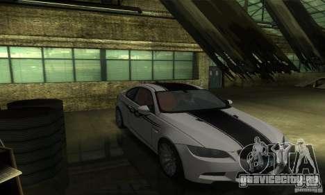 BMW M3 E92 для GTA San Andreas вид сбоку