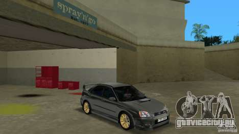Subaru Impreza WRX STi для GTA Vice City вид сзади