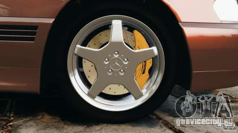 Mercedes-Benz SL 500 AMG 1995 [Final] для GTA 4 вид снизу