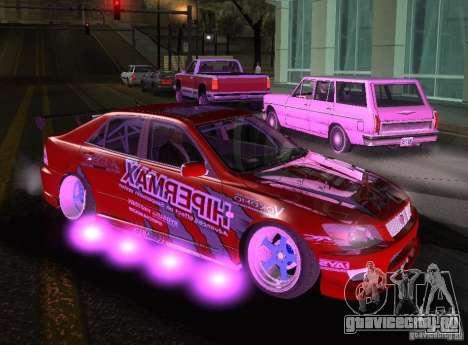 Toyota Altezza Hipermax для GTA San Andreas вид справа