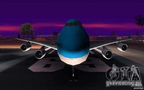 Boeing-747 Corsair Fly для GTA San Andreas вид сверху