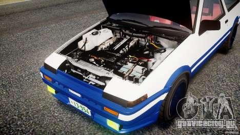 Toyota Trueno AE86 Initial D для GTA 4 вид изнутри
