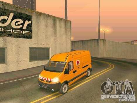 Renault Master для GTA San Andreas вид изнутри