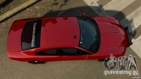 Dodge Charger RT Max FBI 2011 [ELS] для GTA 4 вид справа