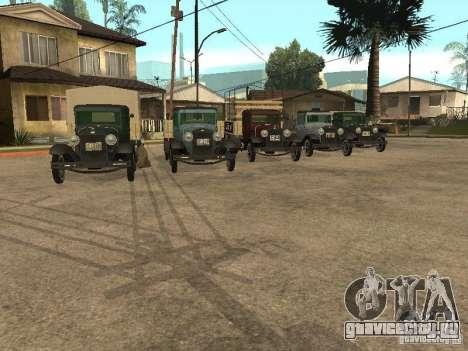 FORD AA для GTA San Andreas вид сзади