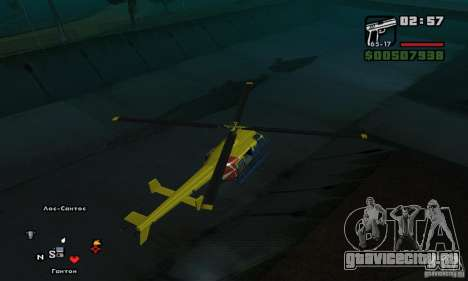 Helitours Maverick из GTA 4 для GTA San Andreas вид справа