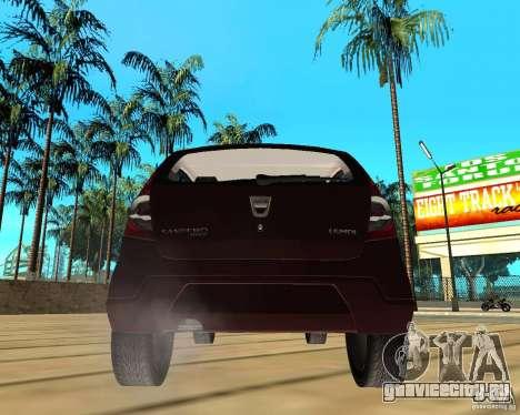 Dacia Sandero 1.6 MPI для GTA San Andreas вид сзади слева