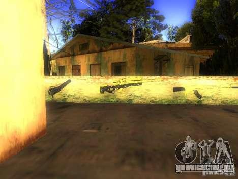 Оружие на Грув Стрит для GTA San Andreas четвёртый скриншот