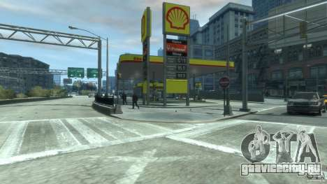 Shell Petrol Station V2 Updated для GTA 4