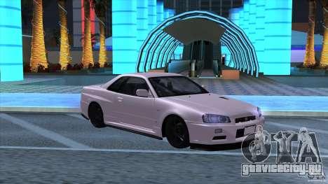 Nissan Skyline GTR-34 M-spec Nur для GTA San Andreas