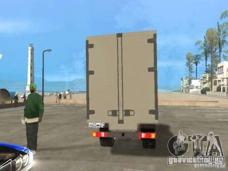 ГАЗель 33022 для GTA San Andreas вид сзади