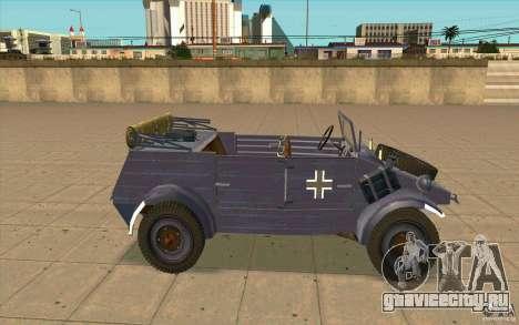 Kuebelwagen v2.0 normal для GTA San Andreas вид слева
