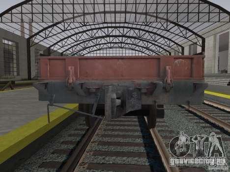 Вагон-платформа 44424539 для GTA San Andreas вид справа