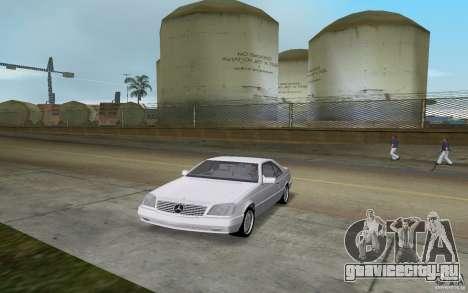 Mercedes-Benz 600SEC (C140) 1992 для GTA Vice City вид сзади слева