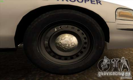 Ford Crown Victoria Arkansas Police для GTA San Andreas вид изнутри