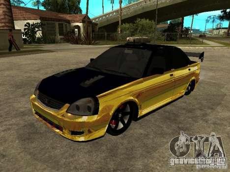 Lada 2170 Priora GOLD для GTA San Andreas вид сбоку