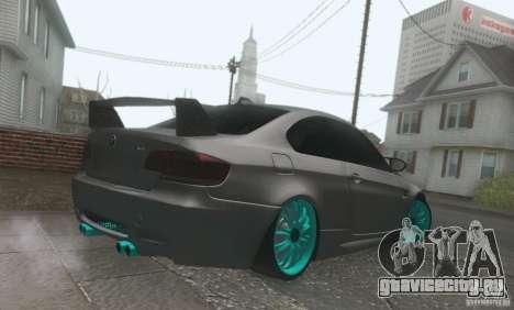 BMW M3 E92 Hellaflush v1.0 для GTA San Andreas вид изнутри