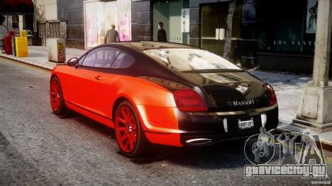 Bentley Continental SS 2010 Le Mansory [EPM] для GTA 4 вид сзади слева