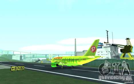 Airbus A310 S7 Airlines для GTA San Andreas вид сзади