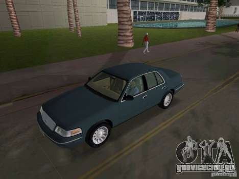Ford Crown Victoria для GTA Vice City вид изнутри