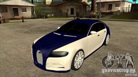 Bugatti Galibier 16c для GTA San Andreas вид сзади
