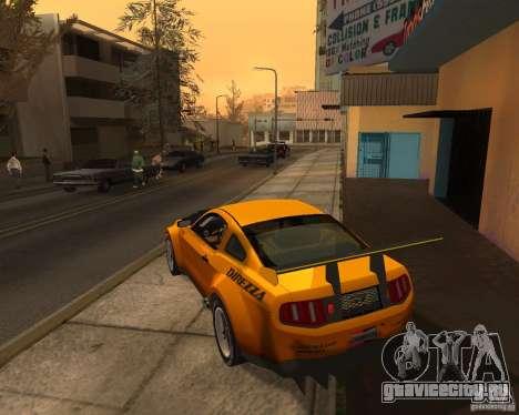 Ford Mustang GT-R 2010 для GTA San Andreas вид сзади слева