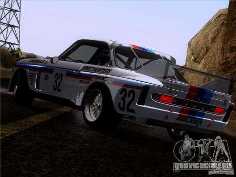 BMW CSL GR4 для GTA San Andreas вид снизу