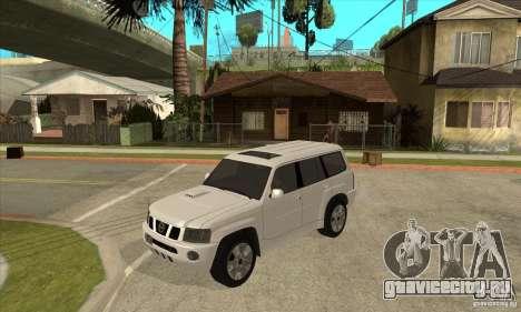 Nissan Patrol 2005 Stock для GTA San Andreas вид сбоку