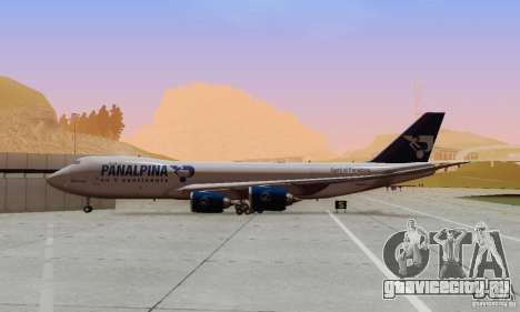 Boeing 747-8F для GTA San Andreas вид изнутри