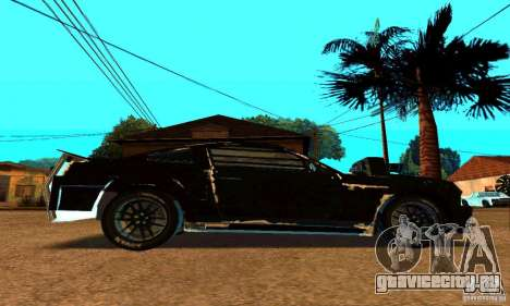 Ford Mustang Shelby GT500 From Death Race Script для GTA San Andreas вид сзади