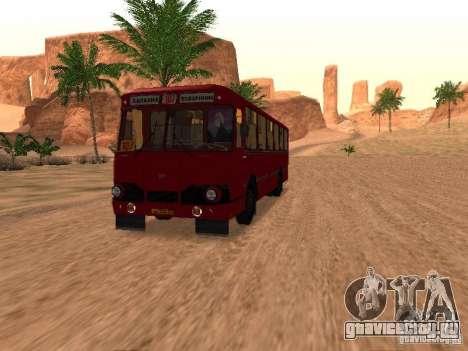 ЛиАЗ 677 для GTA San Andreas вид сверху