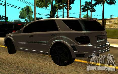 Mercedes-Benz ML63 AMG W165 Brabus для GTA San Andreas вид сзади слева