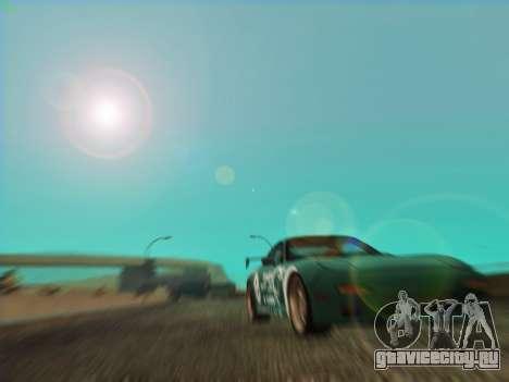 Mazda RX7 rEACT для GTA San Andreas вид сзади