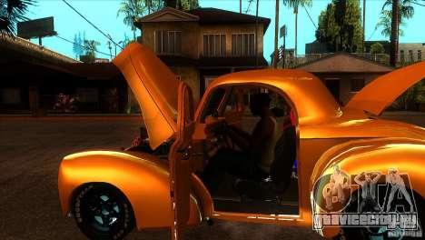 Americar Willys 1941 для GTA San Andreas вид сбоку