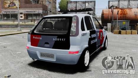 Chevrolet Corsa 2012 PMESP ELS для GTA 4 вид сзади слева