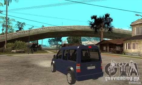 Ford Transit Connect 2007 для GTA San Andreas вид сзади слева