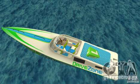 Speed Motorboat для GTA San Andreas вид сзади