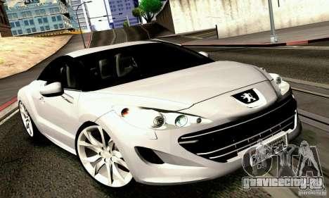 Peugeot Rcz 2011 для GTA San Andreas вид справа