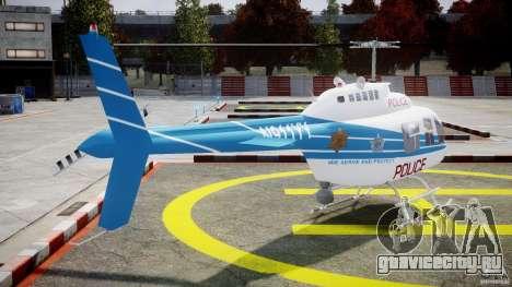 Bell 206 B - Chicago Police Helicopter для GTA 4 вид сбоку