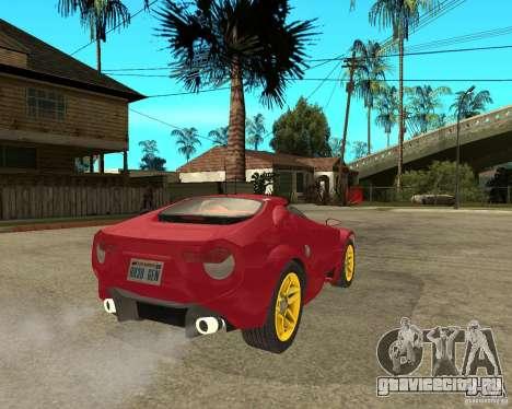 Lancia Stratos Fenomenon для GTA San Andreas вид сзади слева