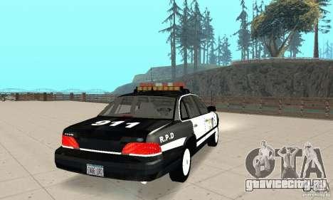 Ford Taurus 1992 Police для GTA San Andreas вид сзади слева