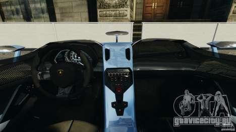 Lamborghini Aventador J 2012 для GTA 4 вид сзади