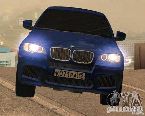 BMW X6 M E71 для GTA San Andreas вид изнутри